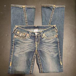 True Religion Joey Jeans Size 28 skinny flare